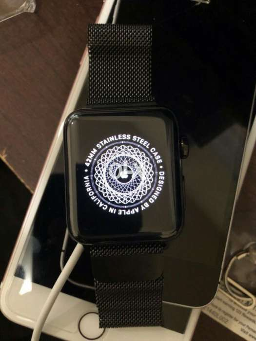 low priced 417fe fd778 Apple watch series 3 42mm space black stainless steel - Accessories ...