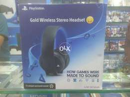 Gold Wireless Stereo Handset / HeadPhone for PS4