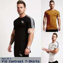 Pack of 3 V O style t shirts