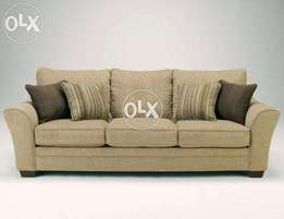 New modern curve arm sofa seven seater in fabric.