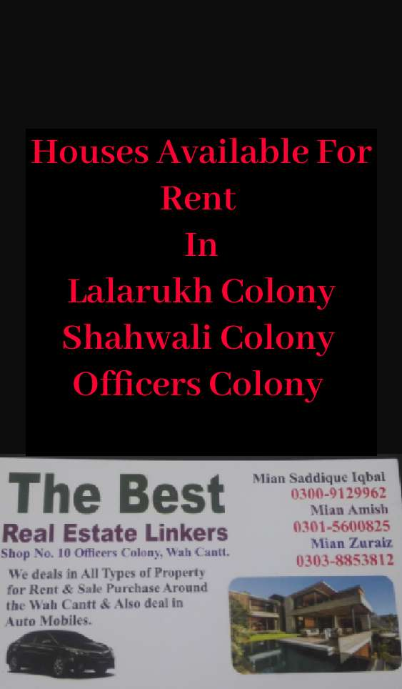 House Rent Wah - Property for Rent in Pakistan   OLX com pk