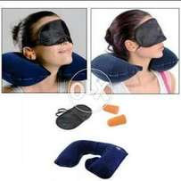 Ear plugs and eye cover pillow.