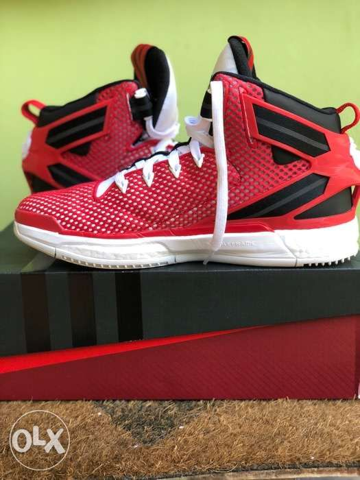 new styles 15619 71773 ... Adidas D Rose 6 Boost Red White Black Basketball Shoes Sz 10 with Box  ...