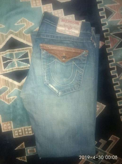 65c74c81e Tampilkan gambar. Close  x . celana jeans keren merk TRUE RELIGION original  made in USA size 31 section JOEY ...