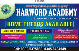 Home tutor is available for English