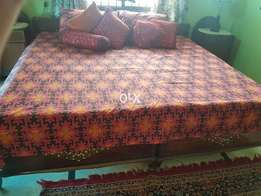 Pair of Single beds with one double size mattress