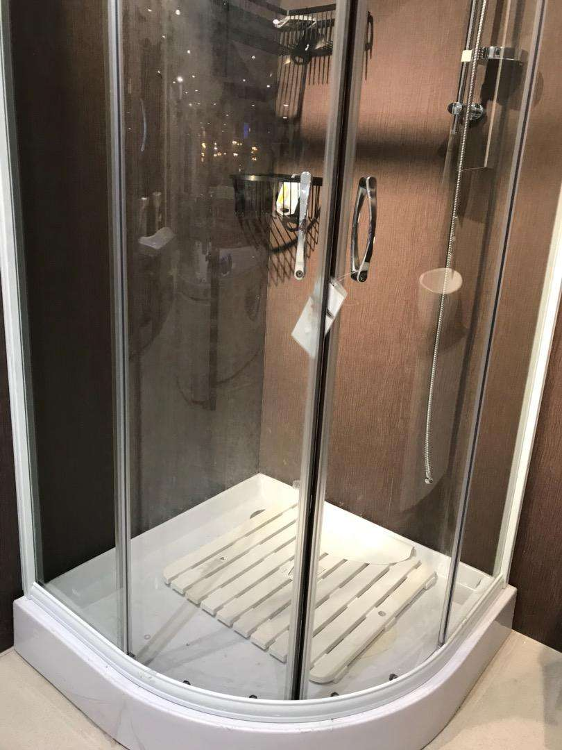 minimalis shower box kamar mandi portable Screen kaca toilet cubicle