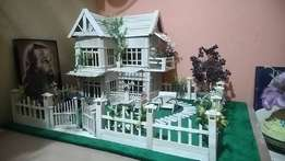 White Wooden House Scale Model