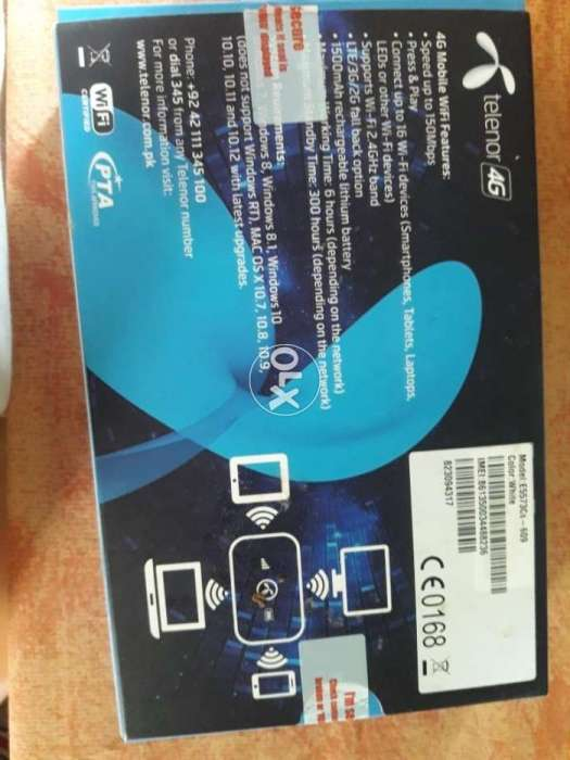 Telenor 4g internet device same like new used only 1month