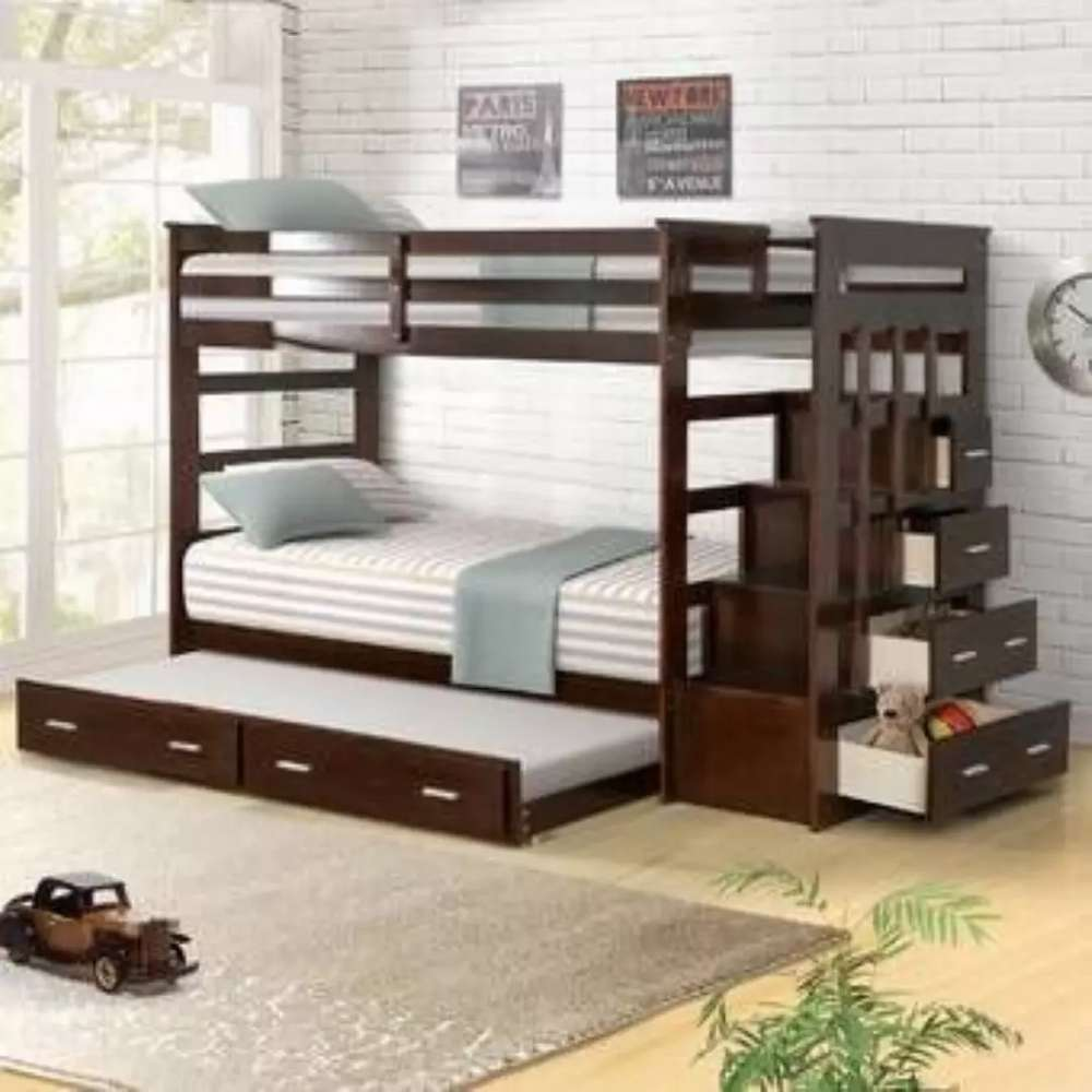 Bunk Bed Of Solid Wood Awosome Price Kids Furniture 1012772222