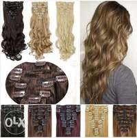 Hair Extension 8 Pieces Full Head Clips