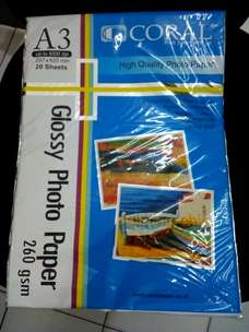 glossy photo paper a3 260gr