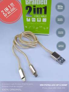 Kabel Data GOLF 2-IN-1 GC-34 1M Gold Original
