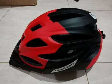 Helm sepeda Polygon Cliff Matt Red