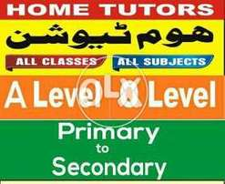 Home Tutors For O-A Level//Physics.Chem.Maths.All Subjects