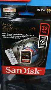 Sandisk Extreme Pro SD Card 95MB/s 32GB
