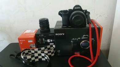 mirrorless sony a7 baru 2 bln. 99,9% like new