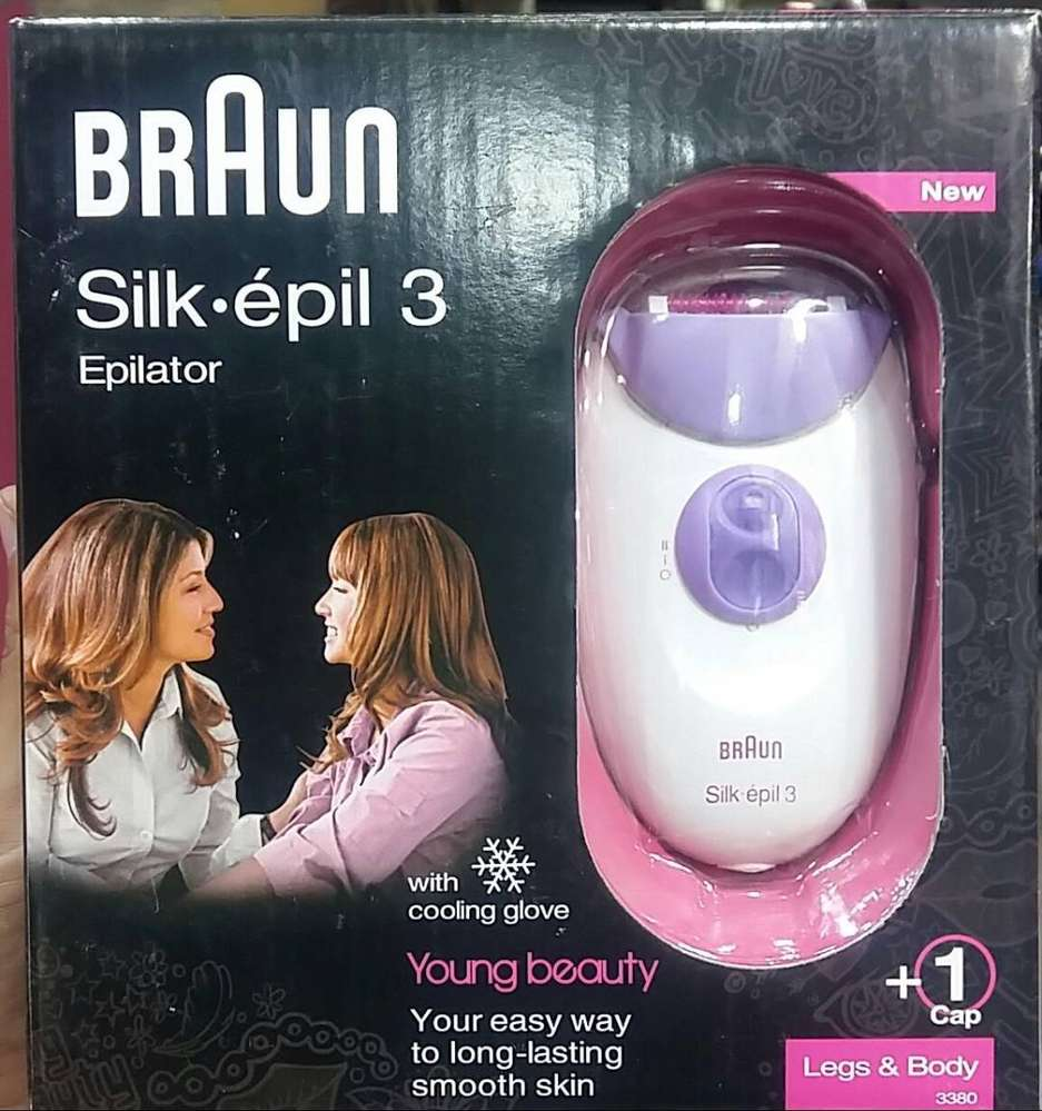 Original Braun Silk Epil 3 Legs And Body Epilator Model 3380