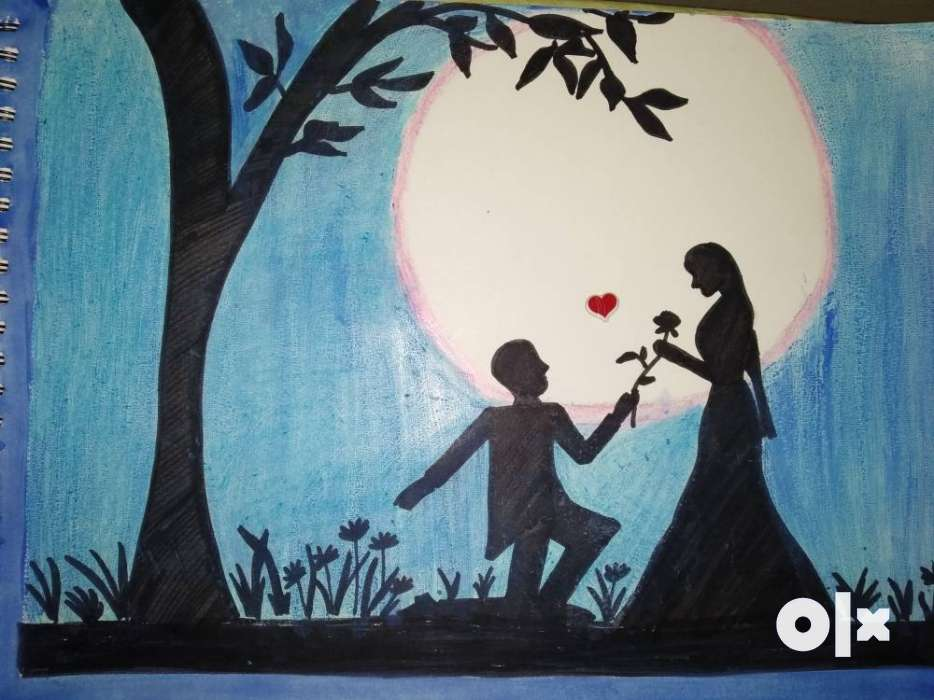 prospective of love painting poster on paper pune furniture