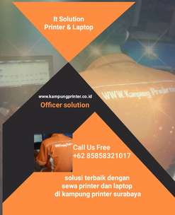 printer LaserJet and laptop disewakan