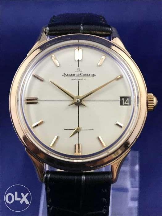8365a159f0d ... Rare Vintage JaegerLeCoultre Automatic Gold Watch Rolex IWC Tudor ...