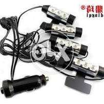 4 Pcs Car Led Door, DeshBoard and Footer Light