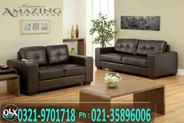Imported leatheright sofa seven seater | Tassan design.