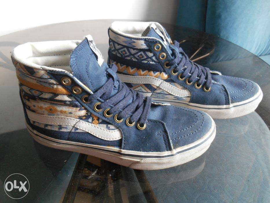 50f5626bb4f7a1 Vans Old SKool SK8 Hi Blue with Graphic print Womens in Calamba City ...