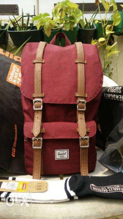 3847fc0b874 Herschel Little America 25L Wine-Colored Authentic Backpack in San ...
