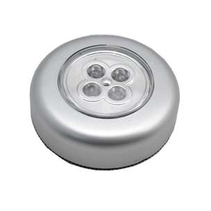 Stick and Click Touch LED Lamp 4 LED - Silver