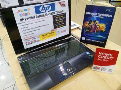 Kredit Laptop HP Pavilion Gaming 15-CX0216TX i7 8750H SSD 256GB