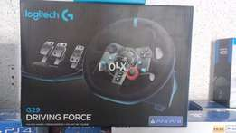 Logitech g29 for PS4 with manual gear box only at MY Games !