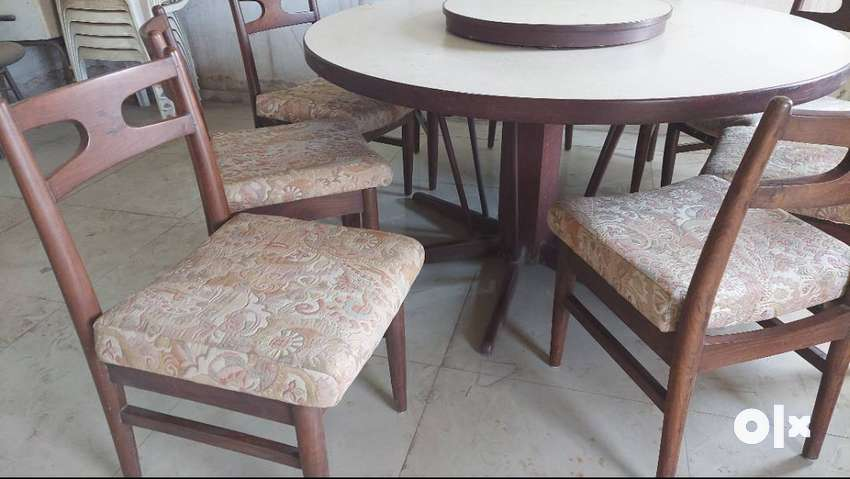 5ft Dia Round Dining Table With 8 Chairs Sofa Dining 1622032303