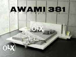 Low profile Bed with sider table