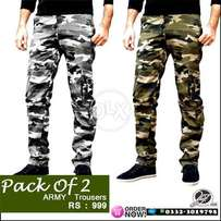 pack of army trousers