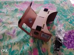 3d Google Cardboard With Headmounted Strap with NFC and Barcode