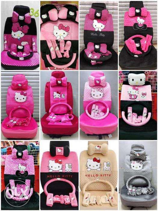 18 In 1 Hello Kitty Mickey Mouse Car Seat Cover Free Ship