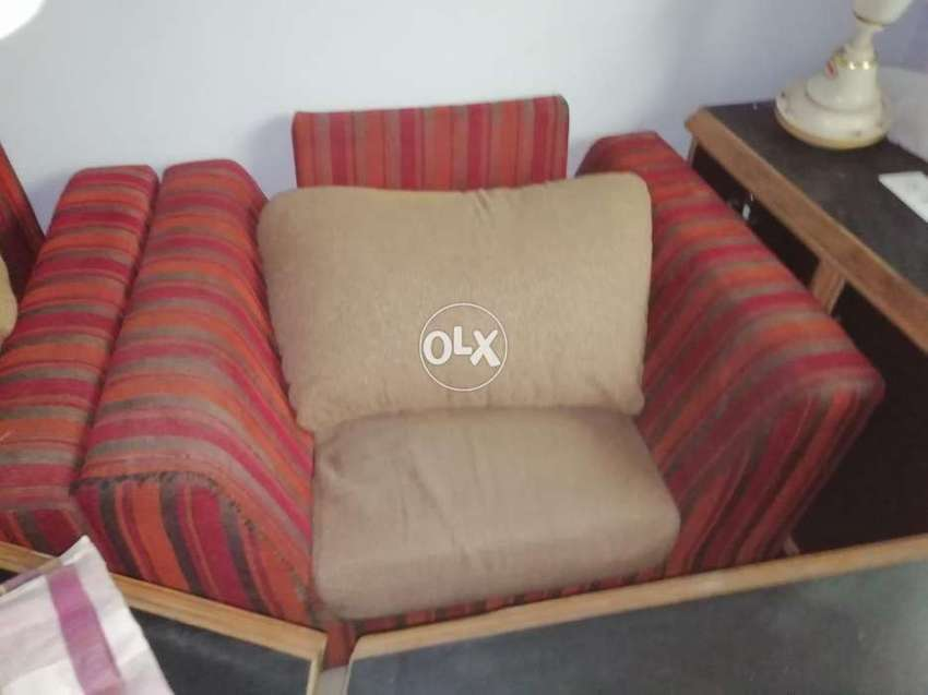 5seater sofa with jute large cushions