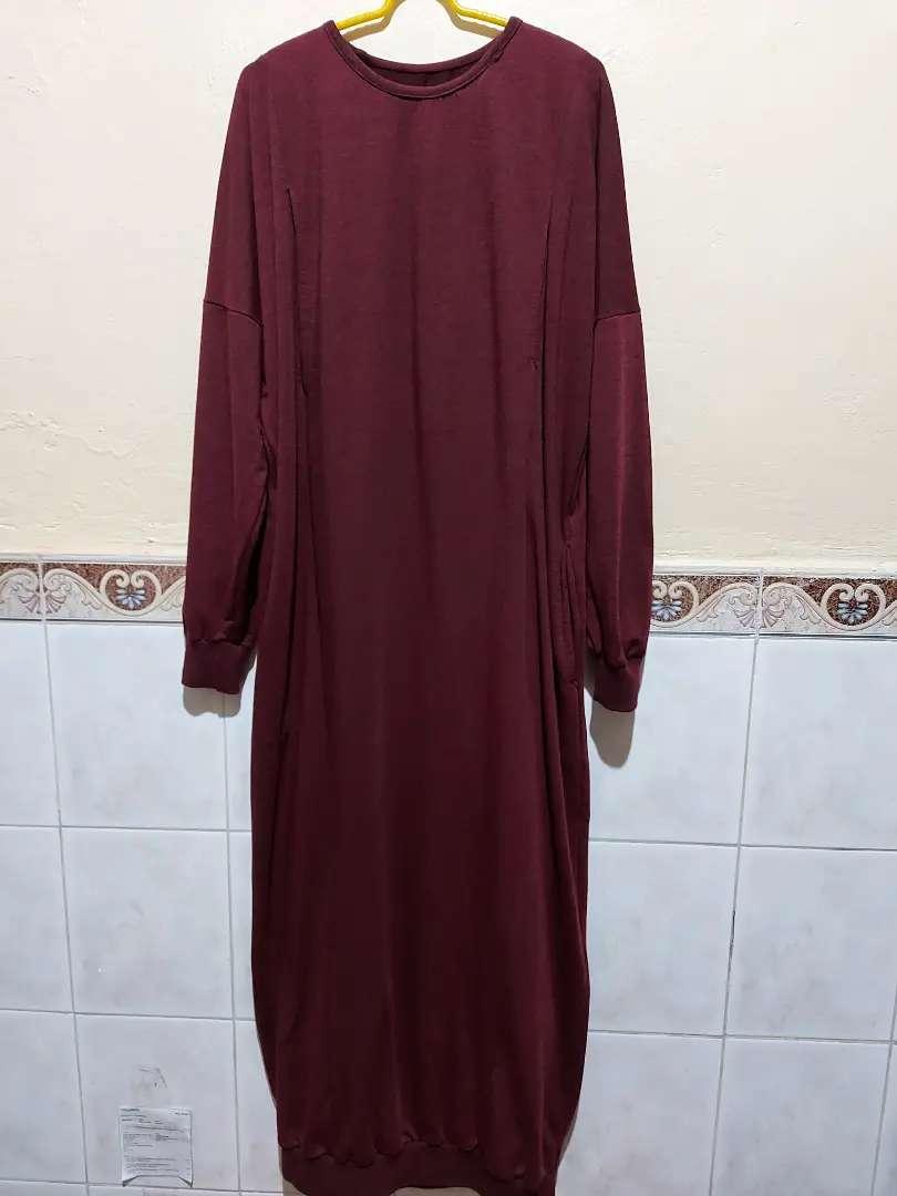 Gamis Maroon Kaos Fashion Wanita 794872323