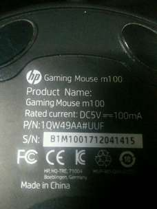 mouse laptop merk HP m100