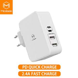 McDodo Power Delivery Charger 41 Watt for Iphone Fast Charging