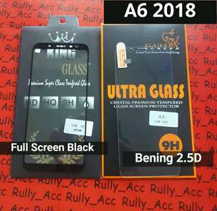 Tempered glass Samsung full cover full Screen samsung A6 A6+ plus 2018