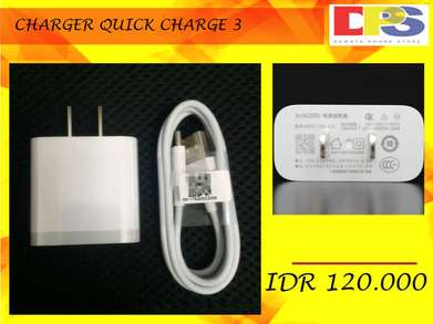 CHARGER XIAOMI QUICK CHARGE 3.0 , Kabel Data Type C Garansi 2 Bulan