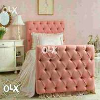 Baby pink single bed