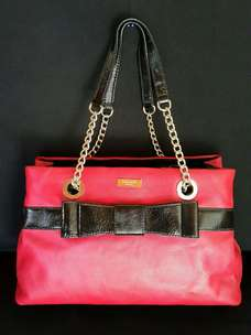 Tas import eks Kate Spade new york ad no seri kulit asli tebal merah