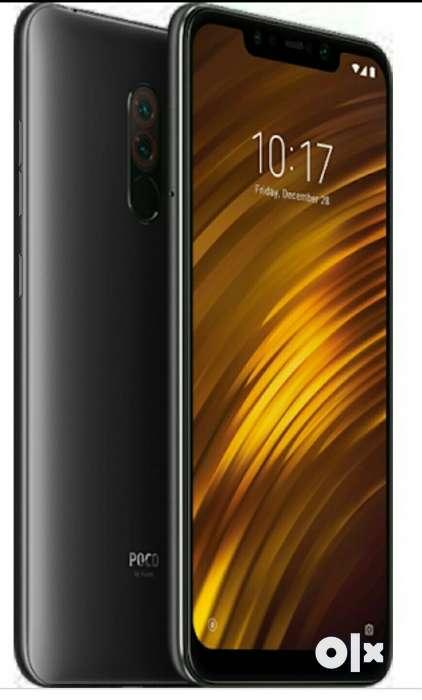 Poco f1 black colour 6 gb ram 128 gb rom Seal - Mobile Phones