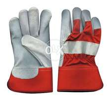 Working Gloves, Leather 6 pcs