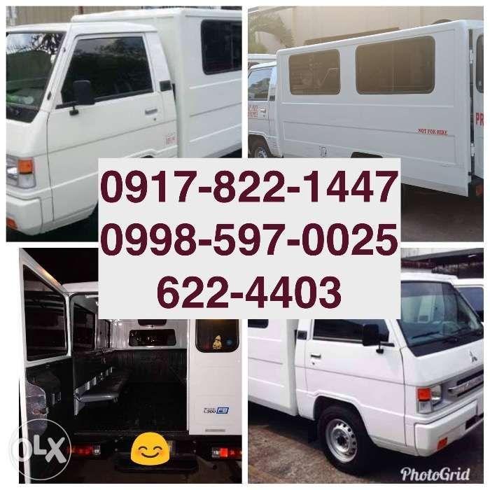 9c4ec635e8 Mitsubishi L300 FB Van for Rent Hiace Commuter Grandia Hire Truck H100 ...