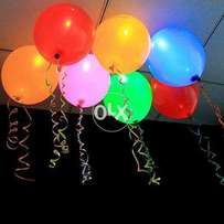 Pack of 5 led balloons