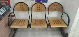 Two Brown Wooden Framed Chairs